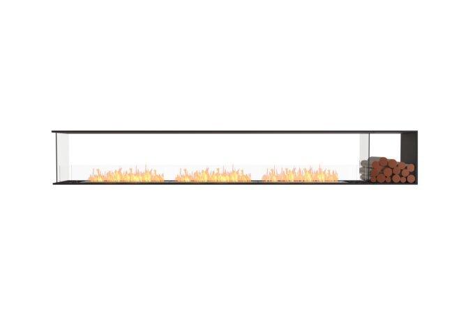 Flex 140PN.BXR Peninsula - Ethanol / Black / Installed View by EcoSmart Fire