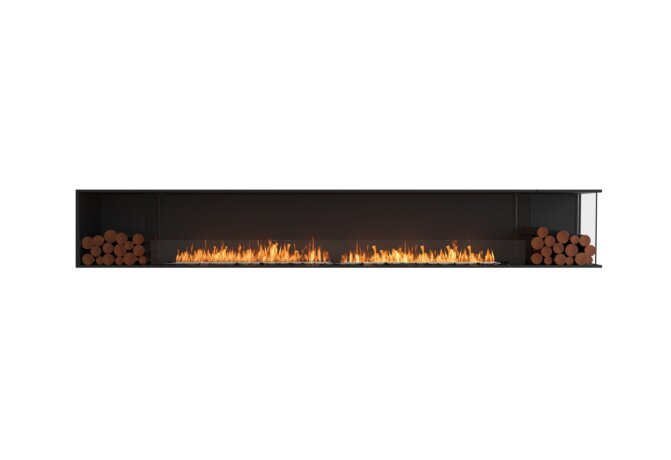 Flex 140RC.BX2 Flex Fireplace - Ethanol / Black / Installed View by EcoSmart Fire