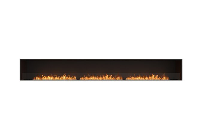 Flex 158SS Flex Fireplace - Ethanol / Black / Installed View by EcoSmart Fire