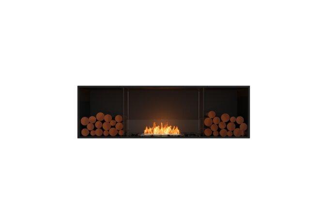 Flex 68SS.BX2 Flex Fireplace - Ethanol / Black / Installed View by EcoSmart Fire