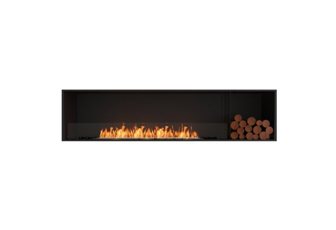 Flex 86SS.BXR Single Sided - Ethanol / Black / Installed View by EcoSmart Fire