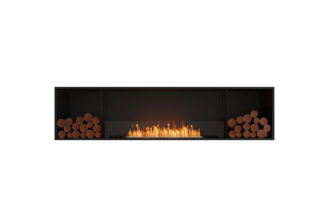 Flex 86SS.BX2 Flex Fireplace - Ethanol / Black / Installed View by EcoSmart Fire