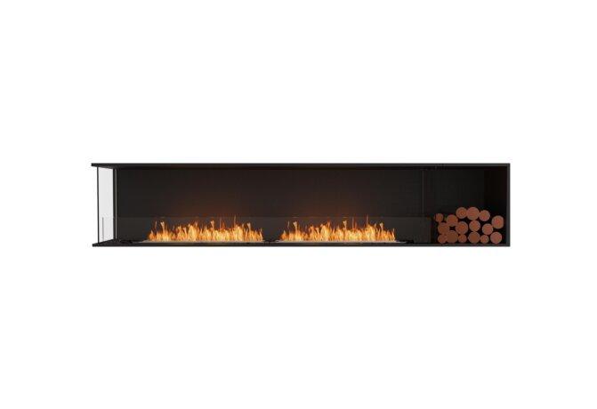 Flex 104LC.BXR Flex Fireplace - Ethanol / Black / Installed View by EcoSmart Fire