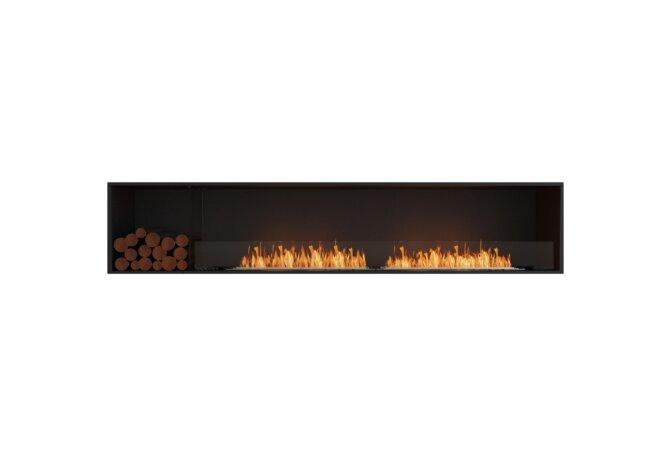 Flex 104SS.BXL Flex Fireplace - Ethanol / Black / Installed View by EcoSmart Fire