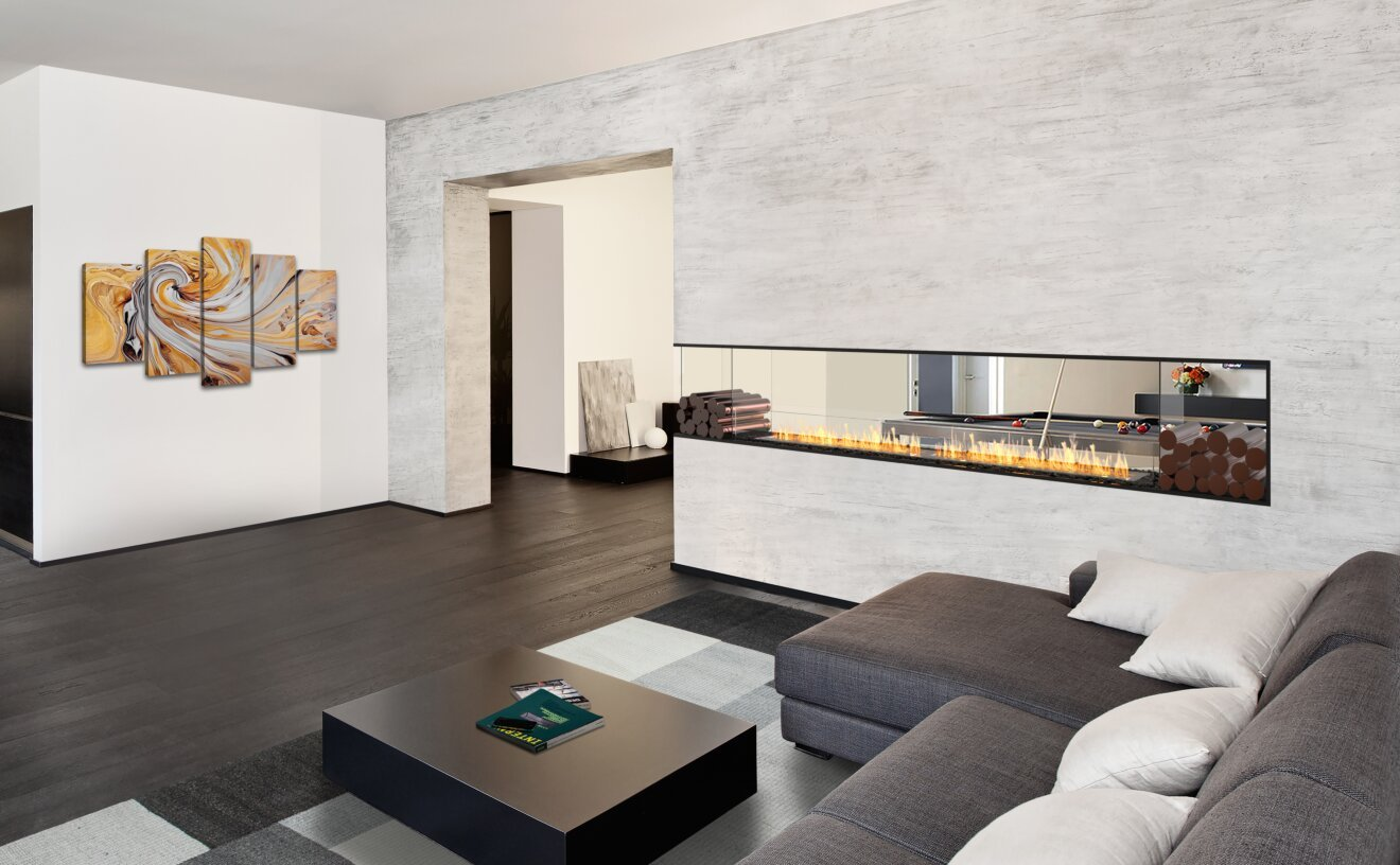 Flex 122PN.BXR Flex Fireplace - Studio Image by EcoSmart Fire