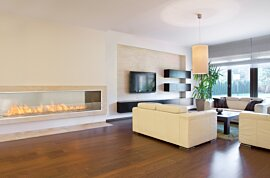 Firebox 2100SS Premium Fireplace - In-Situ Image by EcoSmart Fire