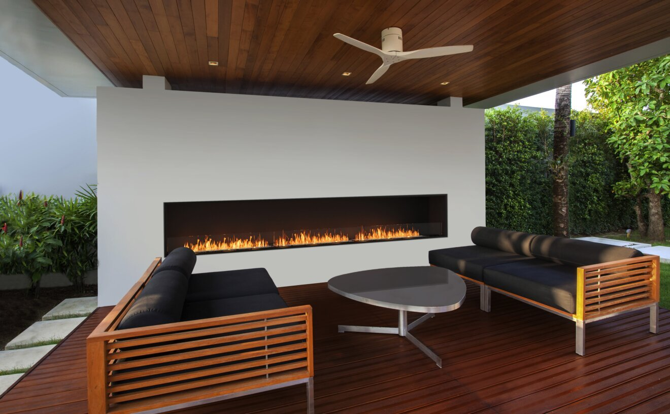 Flex 158SS Flex Fireplace - Studio Image by EcoSmart Fire