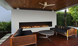 Flex 158SS Single Sided Fireplace by EcoSmart Fire Linear Fires Flex Fireplace Idea