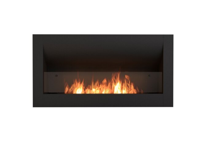 Firebox 1400CV Curved Fireplace - Ethanol / Black / Front View by EcoSmart Fire