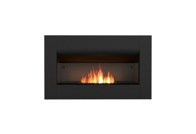 Firebox 650CV Curved Fireplace - Ethanol / Black / Front View by EcoSmart Fire