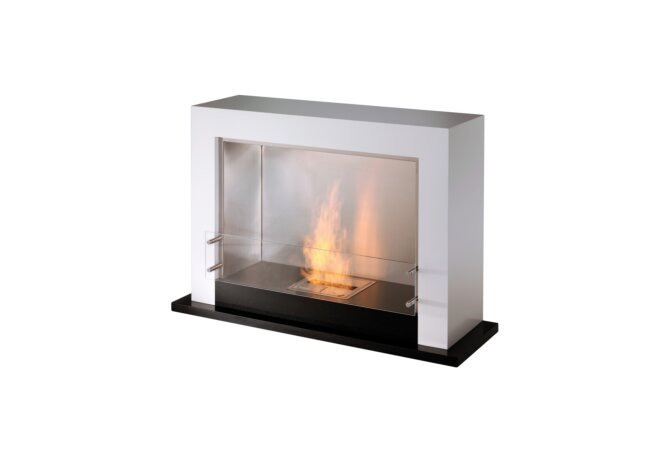 Oxygen Designer Fireplace - Ethanol / White by EcoSmart Fire
