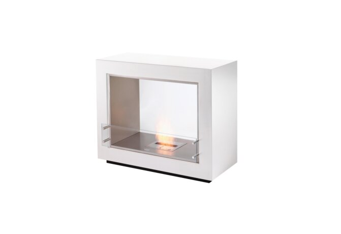 Vision Designer Fireplace - Ethanol / White by EcoSmart Fire