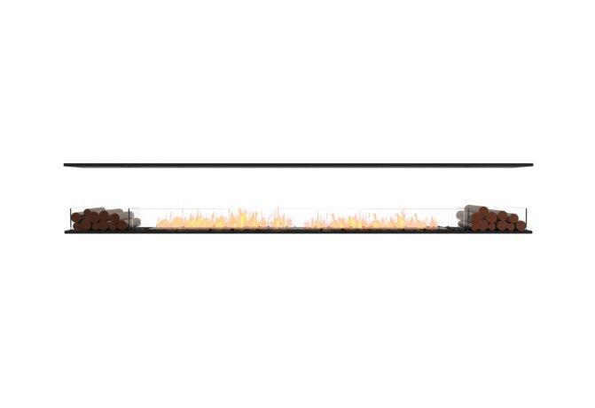 Flex 140IL.BX2 Island - Ethanol / Black / Installed View by EcoSmart Fire