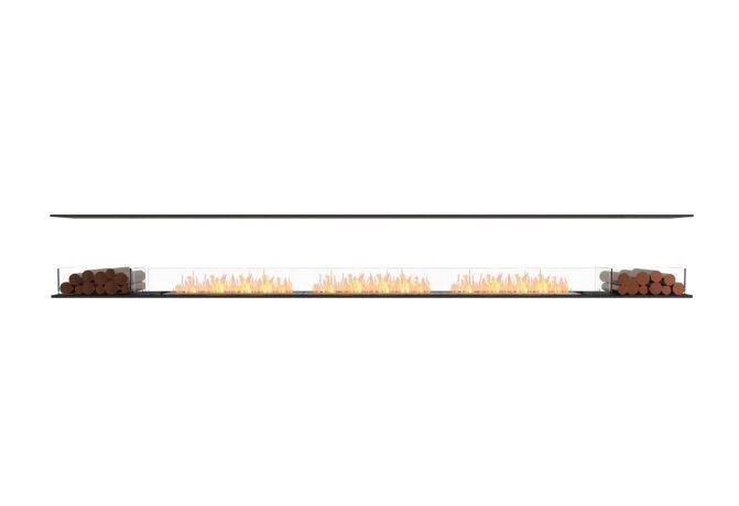 Flex 158IL.BX2 Flex Fireplace - Ethanol / Black / Installed View by EcoSmart Fire