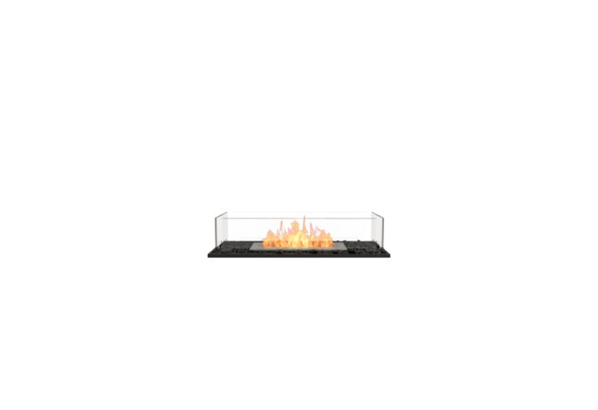 Flex 32BN Bench - Ethanol / Black / Installed View by EcoSmart Fire