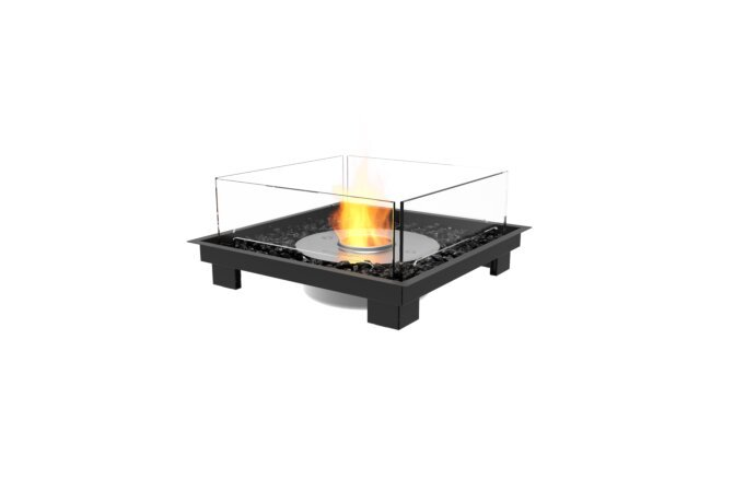 Square 22 Fire Pit Kit - Ethanol / Black by EcoSmart Fire
