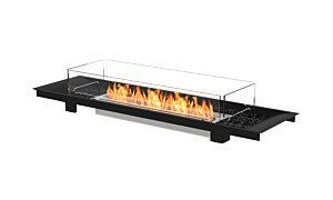 Linear Curved 65 Built-In Fireplace - Studio Image by EcoSmart Fire