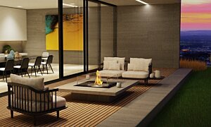 Square 22 Built-In Fireplace - In-Situ Image by EcoSmart Fire