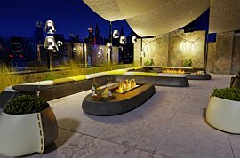Linear 50 Outdoor Fireplace - In-Situ Image by EcoSmart Fire