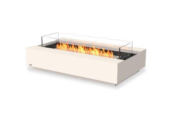 Cosmo 50 Fire Table - Ethanol / Bone / Optional Fire Screen by EcoSmart Fire
