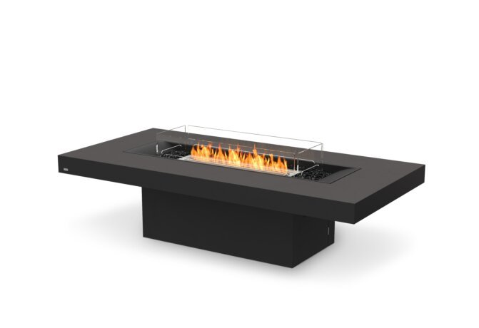 Gin 90 (Chat) Fire Table - Ethanol / Graphite / Optional Fire Screen by EcoSmart Fire