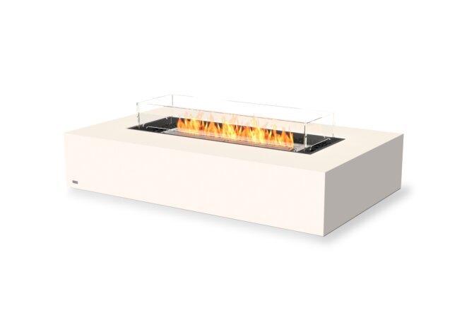 Wharf 65 Fire Table - Ethanol / Bone / Optional Fire Screen by EcoSmart Fire