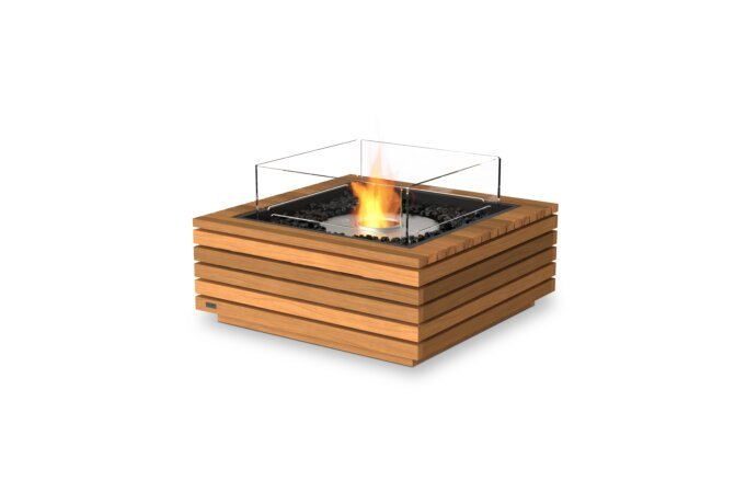 Base 30 Fire Table - Ethanol / Teak / Optional Fire Screen by EcoSmart Fire