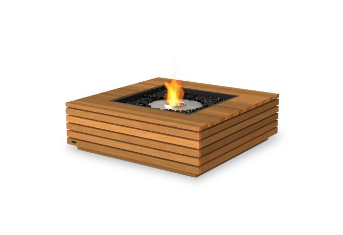 Base 40 Fire Table - Ethanol / Teak by EcoSmart Fire