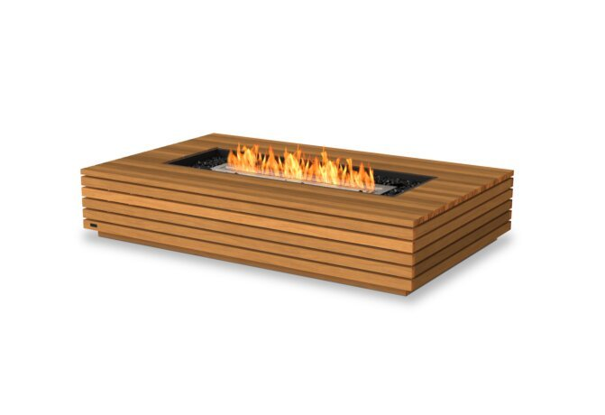 Wharf 65 Fire Table - Ethanol / Teak by EcoSmart Fire