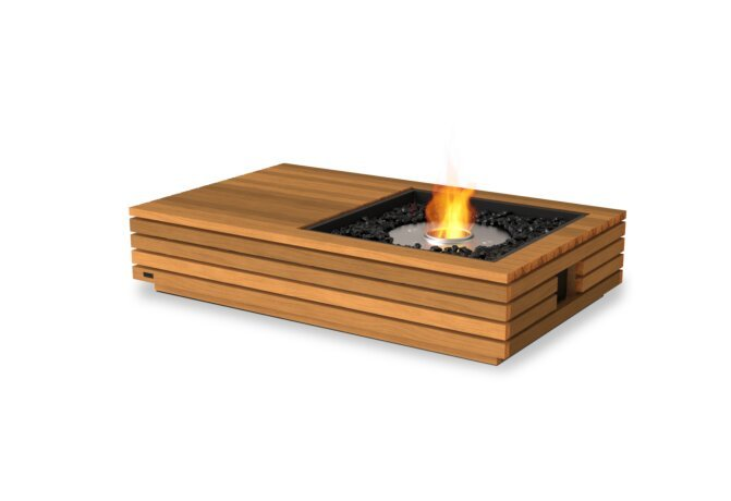 Manhattan 50 Fire Table - Ethanol / Teak by EcoSmart Fire