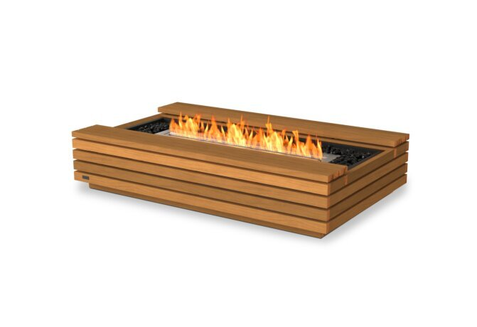 Cosmo 50 Fire Table - Ethanol / Teak by EcoSmart Fire
