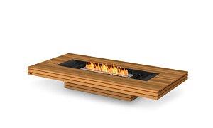Gin 90 (Low) Freestanding Fireplace - Studio Image by EcoSmart Fire
