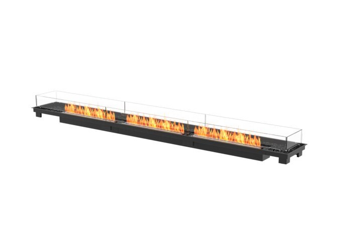 Linear 130 Fire Pit Kit - Ethanol - Black / Black / Indoor Safety Tray by EcoSmart Fire