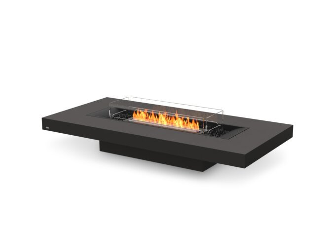 Gin 90 (Low) Fire Table - Ethanol - Black / Graphite / Optional Fire Screen by EcoSmart Fire