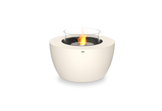 Pod 40 Fire Pit - Ethanol / Bone / Optional Fire Screen by EcoSmart Fire