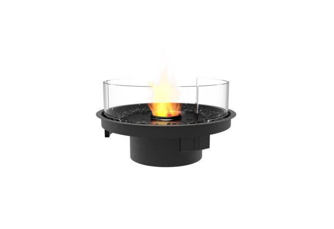 Round 20 Fire Pit Kit - Ethanol - Black / Black / Indoor Safety Tray by EcoSmart Fire