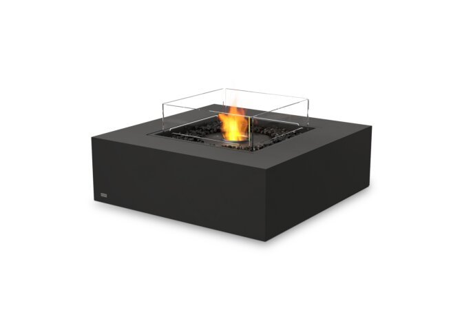 Base 40 Fire Table - Ethanol - Black / Graphite / Optional Fire Screen by EcoSmart Fire