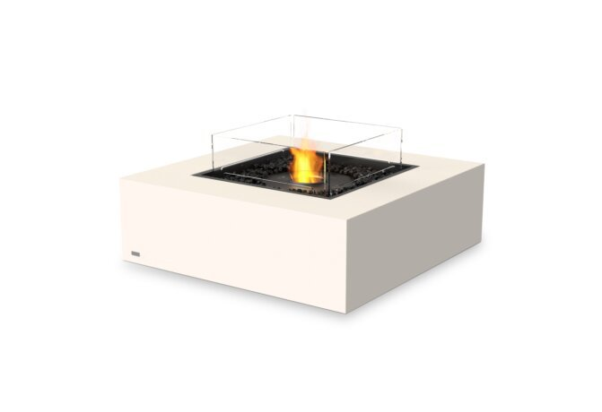 Base 40 Fire Table - Ethanol - Black / Bone / Optional Fire Screen by EcoSmart Fire