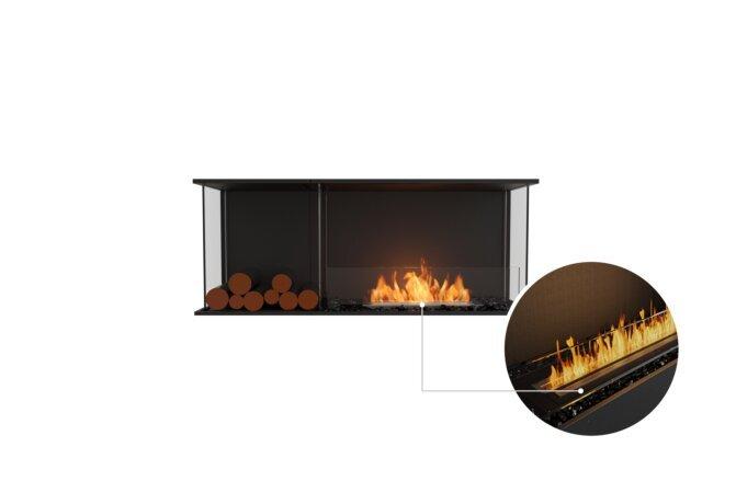 Flex 50 - Ethanol - Black / Black / Installed View by EcoSmart Fire