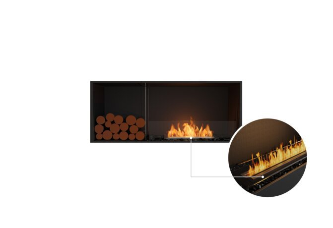 Flex 50SS.BXL Single Sided - Ethanol - Black / Black / Installed View by EcoSmart Fire