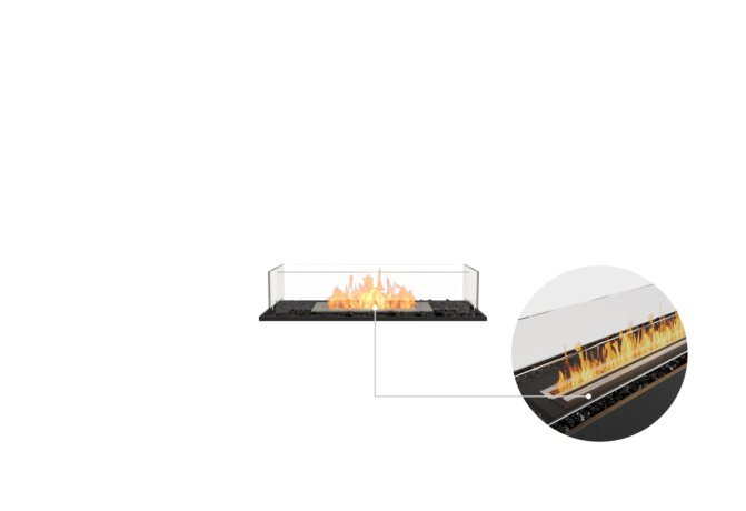 Flex 32BN Bench - Ethanol - Black / Black / Installed View by EcoSmart Fire