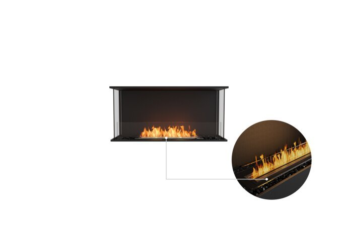 Flex 42 - Ethanol - Black / Black / Installed View by EcoSmart Fire