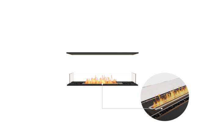 Flex 42IL Island - Ethanol - Black / Black / Installed View by EcoSmart Fire