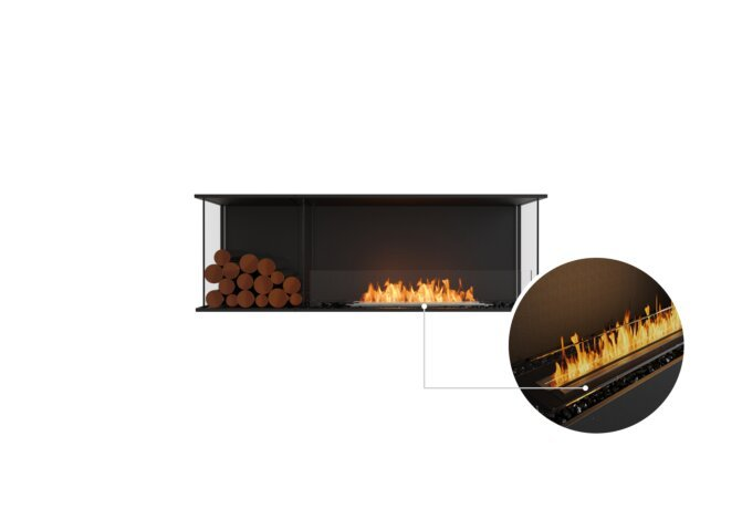 Flex 60 - Ethanol - Black / Black / Installed View by EcoSmart Fire