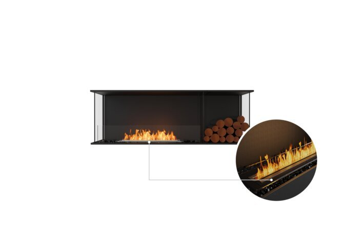Flex 60 - Ethanol - Black / Black / Installed View by EcoSmart Fire