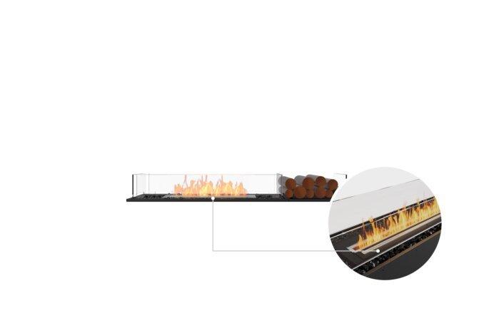 Flex 60BN.BX1 Bench - Ethanol - Black / Black / Installed View by EcoSmart Fire