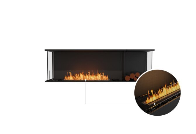 Flex 68 - Ethanol - Black / Black / Installed View by EcoSmart Fire
