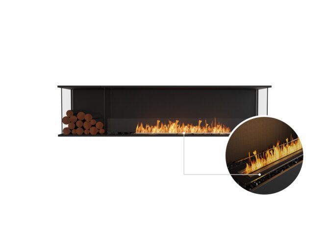 Flex 86 - Ethanol - Black / Black / Installed View by EcoSmart Fire