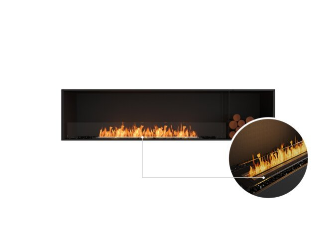 Flex 86SS.BXR Single Sided - Ethanol - Black / Black / Installed View by EcoSmart Fire