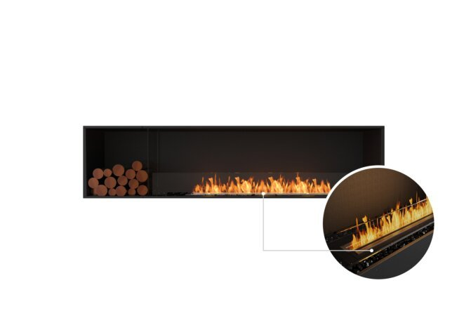 Flex 86SS.BXL Single Sided - Ethanol - Black / Black / Installed View by EcoSmart Fire